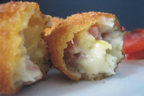 Croquetas de jamón y queso Brie