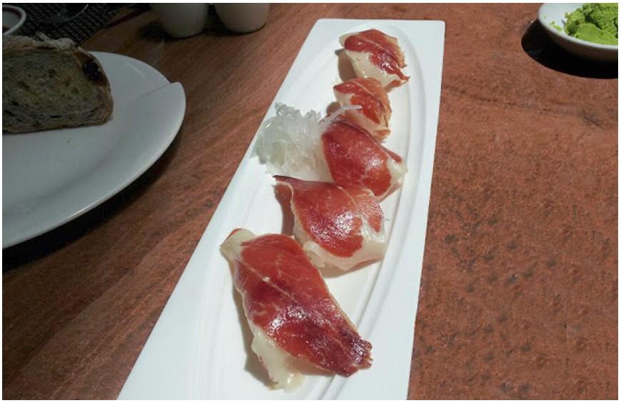 Receta Sushi de jamón